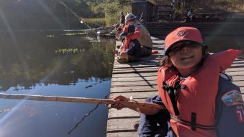 Scout fishing